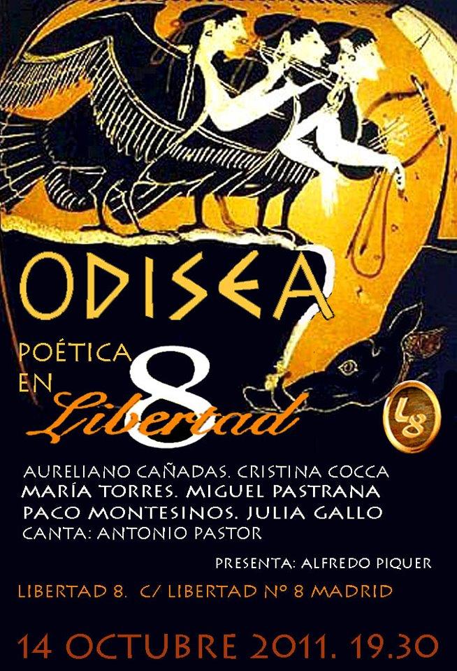 Cartel concierto Antonio Pastor en Libertad 8
