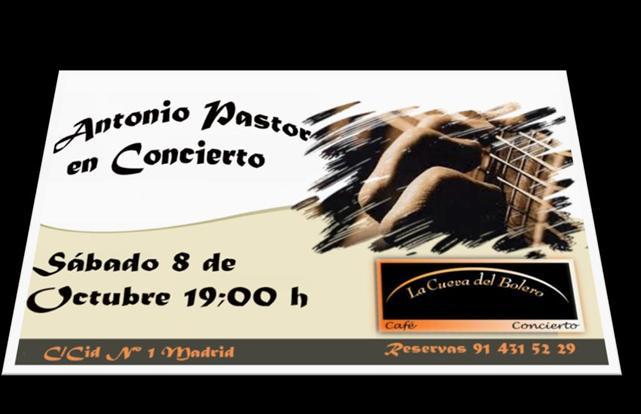 Cartel concierto Antonio Pastor
