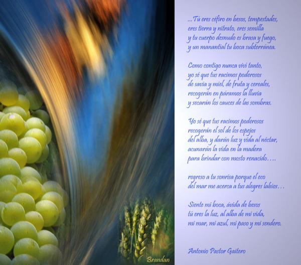 Fragmento de anáfora de besos. Antonio Pastor