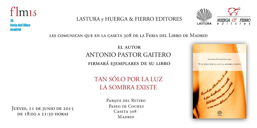 INVITACIÓN ANTONIO PASTOR