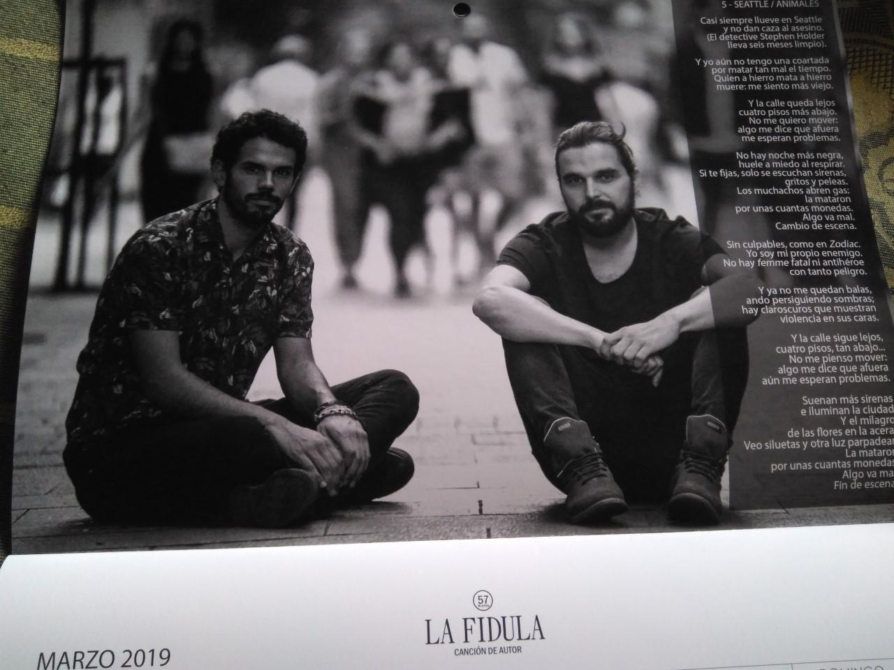Calendario 2018 de La Fídula